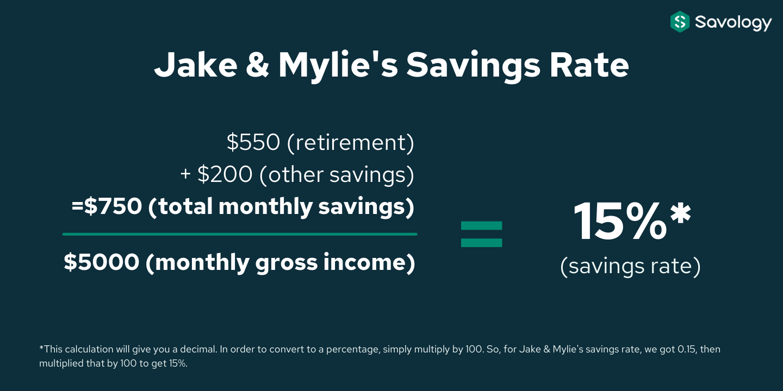 Jake & Mylie's Savings Rate