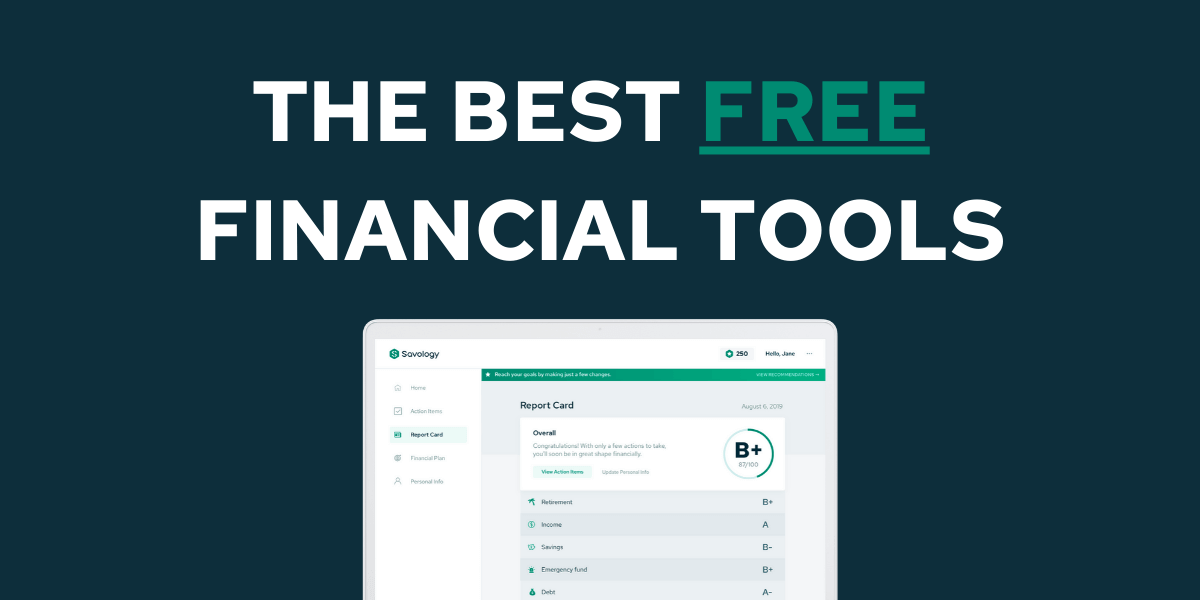 THE BEST FREE FINANCIAL TOOLS - SAVOLOGY