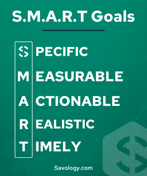 Create SMART goals to help you reach your financial goals