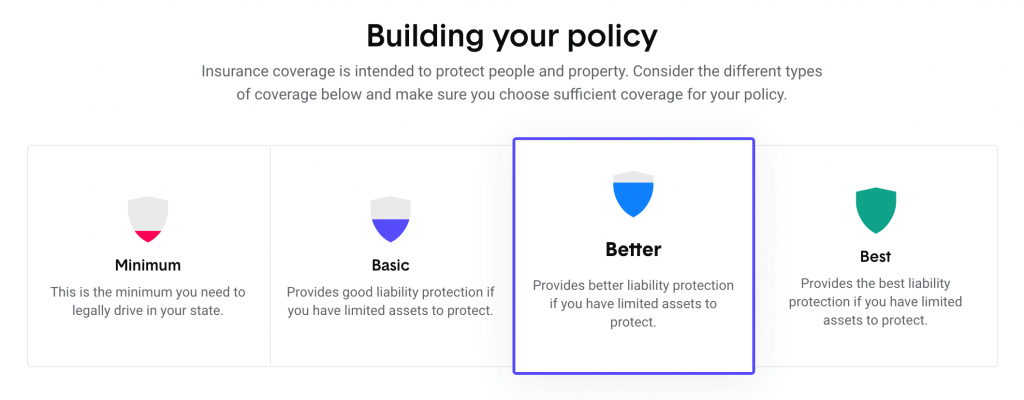 The Zebra Insurance Review - Screenshot - Building Your Policy - Reputation Savology