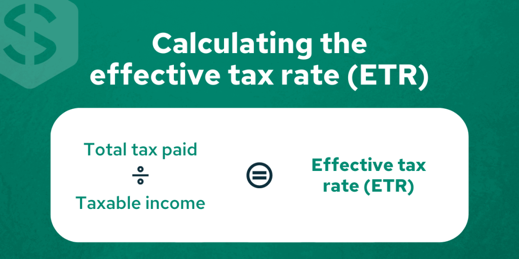 Calculating the effective tax rate - Savology