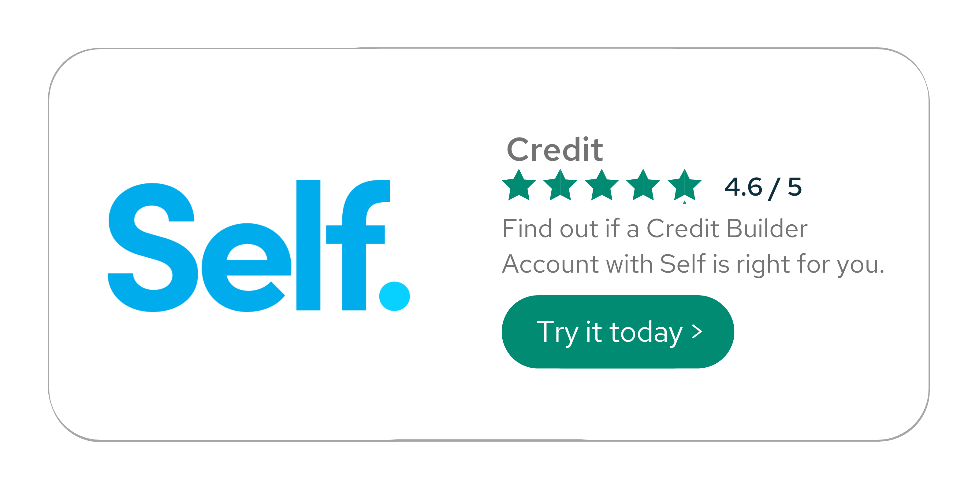 Self lender - try it today for yourself
