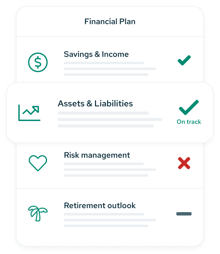Financial plan for now and later
