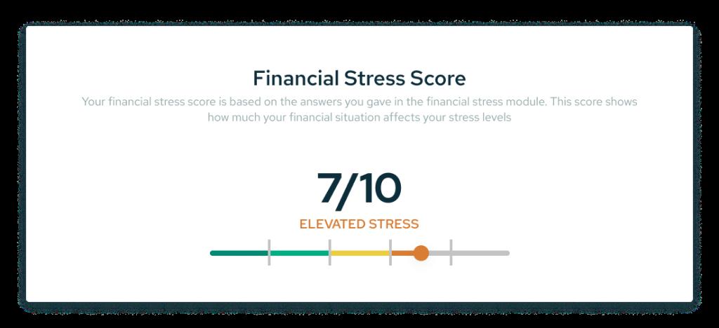 Financial Stress score